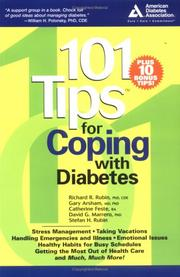 Cover of: 101 Tips for Coping with Diabetes | Richard L. Rubin