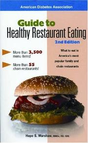 Cover of: Guide to Healthy Restaurant Eating