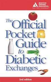 Cover of: The official pocket guide to diabetic exchanges