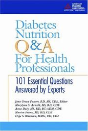 Cover of: Diabetes Nutrition Q&A for Health Professionals