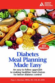 Cover of: Diabetes Meal Planning Made Easy