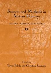 Cover of: Sources and methods in African history