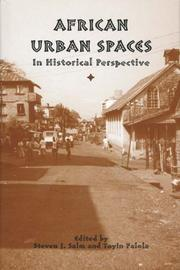 Cover of: African urban spaces in historical perspective
