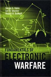 Cover of: Fundamentals of Electronic Warfare (Artech House Radar Library) | Sergei A. Vakin