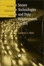 Cover of: Sensor technologies and data requirements for ITS
