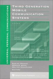 Cover of: Third Generation Mobile Communication Systems (Artech House Universal Personal Communications Library) |