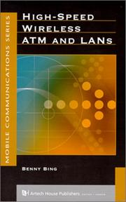 Cover of: High-speed wireless ATM and LANs