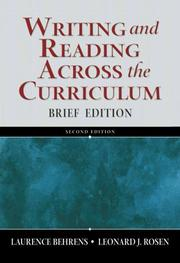 Cover of: Writing and reading across the curriculum