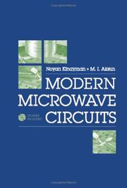 Cover of: Modern Microwave Circuits (Artech House Microwave Library) | Noyan Kinayman