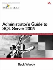 Cover of: Administrator's Guide to SQL Server 2005 (Microsoft Windows Server System Series)