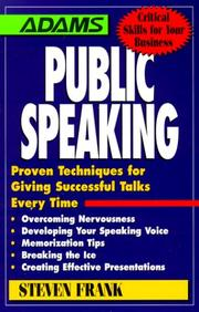 Cover of: Public Speaking
