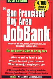 Cover of: The San Francisco Bay Area Jobbank (San Francisco Bay Area Jobbank, 16th ed) | Michelle Roy Kelly
