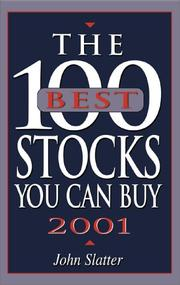 Cover of: The 100 Best Stocks You Can Buy, 2001