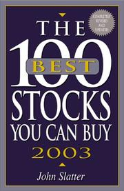 Cover of: The 100 Best Stocks You Can Buy, 2003