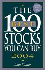 Cover of: The 100 Best Stocks You Can Buy 2004