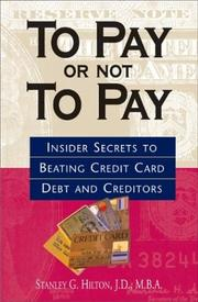 Cover of: To pay or not to pay