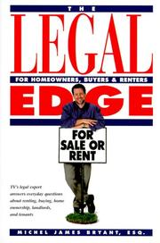 Cover of: The legal edge for homeowners, buyers & renters