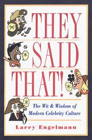 Cover of: They said that!