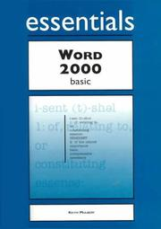 Cover of: Word 2000 Essentials Basic | Keith Mulbery