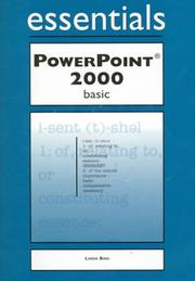 Cover of: PowerPoint 2000 Essentials Basic | Linda Bird