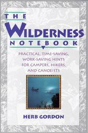 Cover of: The wilderness notebook