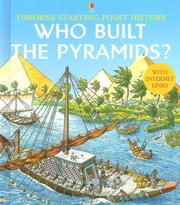 Cover of: Who Built the Pyramids? (Usborne Starting Point History) | Jane Chisholm