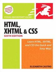 Cover of: HTML, XHTML, and CSS