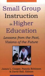 Cover of: Small Group Instruction in Higher Education |