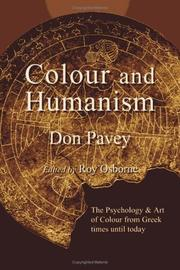 Cover of: Colour and humanism | Don Pavey