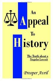 Cover of: appeal to history | Prosper Avril