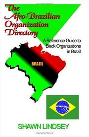 Cover of: The Afro-Brazilian organization directory