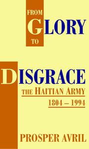 Cover of: From glory to disgrace | Prosper Avril