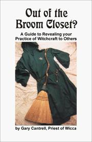 Cover of: Out of the broom closet? | Gary Cantrell