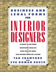 Cover of: Business and Legal Forms for Interior Designers | Tad Crawford