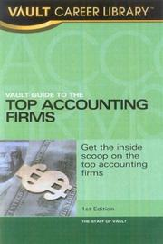 Vault guide to the top accounting firms by Derek Loosvelt