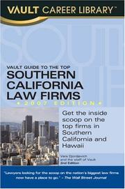 Cover of: Vault Guide to the Top Southern California Law Firms, 2007 Edition (Vault Guide to the Top Southern California Law Firms) | Brian Dalton