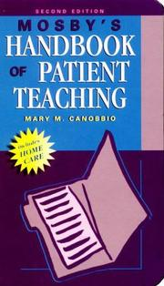 Cover of: Mosby's handbook of patient teaching