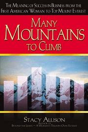 Cover of: Many Mountains to Climb