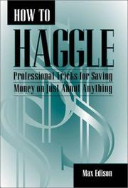 Cover of: How to haggle