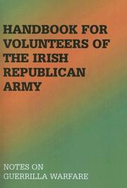 Cover of: Handbook for volunteers of the Irish Republican Army |