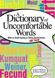Cover of: The dictionary of uncomfortable words | Andrew Witham