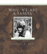 Cover of: Why We Are a Family | Gregory E. Lang