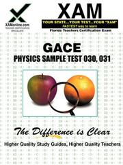 Cover of: GACE Physics Sample Test 030, 031 | Sharon Wynne