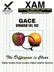 Cover of: GACE Spanish 141, 142 | Sharon Wynne