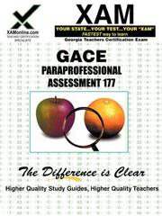 Cover of: GACE Paraprofessional Assessment 177 | Sharon Wynne