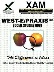 Cover of: West-E/Praxis II Social Studies 0081 | Sharon Wynne