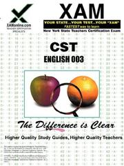 Cover of: NYSTCE CST English 003 | Sharon Wynne