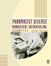 Cover of: Pharmacist disease management credentialing