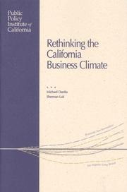 Cover of: Rethinking the California business climate