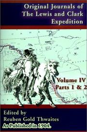 Cover of: Original Journals of the Lewis and Clark Expedition, Volume 4 (Journals of the Lewis and Clark Expedition)